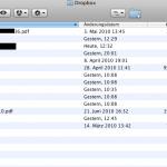 So sieht der Speicherplatz in Mac OSX aus. Ganz normale Online und Dateistruktur