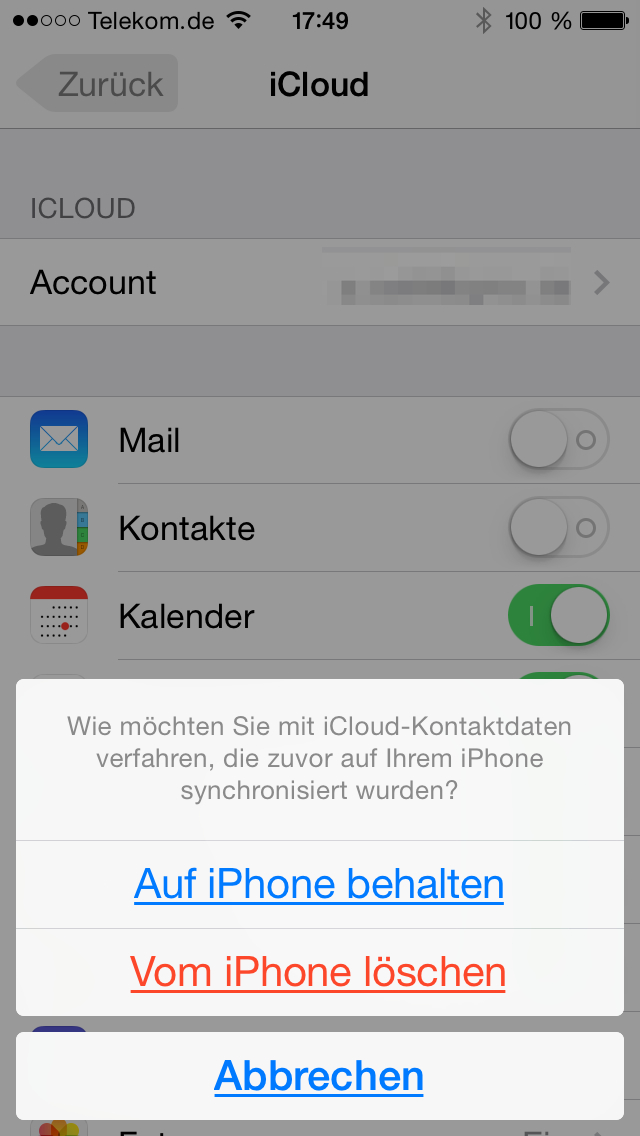 Iphone kontakte übertragen auf iphone